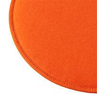 Galette de chaise ronde Cocos orange