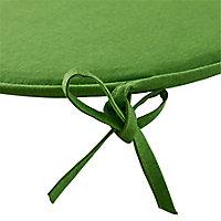 Galette de chaise ronde Cocos vert