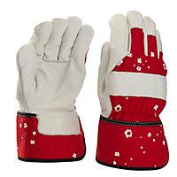 Gants de manutention en cuir rouge Verve - Taille 7 (S)