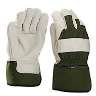 Gants de manutention en cuir vert Verve - Taille 10 (XL)