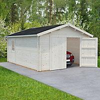 Garage bois Danube 1 voiture, 44 mm