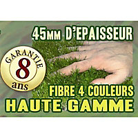 Gazon artificiel Blooma Launay Premium 3 x 1 m ép.45 mm (vendu au rouleau)