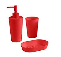 Gobelet plastique mat rouge Palmi