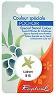 Godet d'huile solide spéciale pochoir coloris lichen