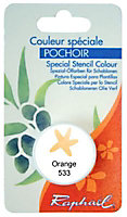 Godet d'huile solide spéciale pochoir coloris orange
