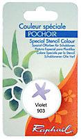 Godet d'huile solide spéciale pochoir coloris violet