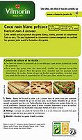Graines de Haricot à écosser Coco Nain Blanc Précoce