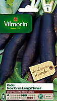 Graines de Radis Noir Gros Long d'Hiver Vilmorin