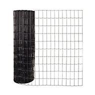 Grillage en rouleau soudé noir 100 x 50 mm, L.20 x h.1,20 m