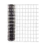 Grillage en rouleau soudé noir 76 x 100 mm, L.20 x h.1,20 m
