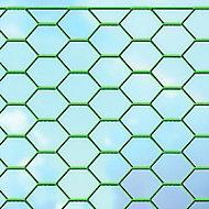 Grillage triple torsion vert 25 x 25mm, L.10 x h.0,5 m