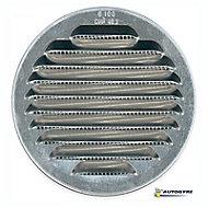 Grille d'aération métal Autogyre à persiennes brut Ø100 mm