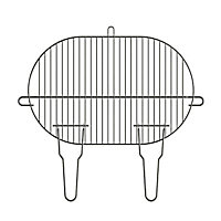 Grille de barbecue Blooma simple 50,5 x 33 cm
