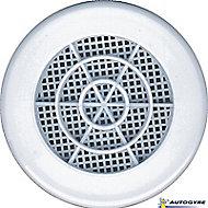 Grille de ventilation Ø 103 mm blanche