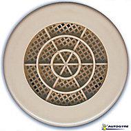 Grille de ventilation Ø 103 mm sable