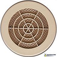 Grille de ventilation Ø 123 mm sable