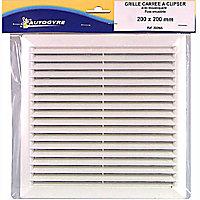 Grille de ventilation à clipser 200 x 200 mm coloris blanc