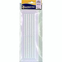 Grille de ventilation simple 260x90 mm blanche