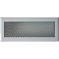 Grille en acier blanc + Précadre 220 x 80 mm