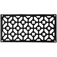 Grille fonte rectangulaire noire 120 x 240 mm