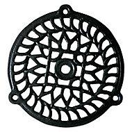 Grille fonte ronde noire diam. 130 mm
