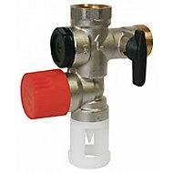 Groupe de sécurité anti-calcaire NF 20x27 pour chauffe-eau alimentation verticale Diall