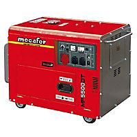 Groupe électrogène insonorisé Mecafer MF5500 triphasé 5000W