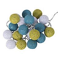 Guirlande LED Corep Bubble bleu vert blanc 20L