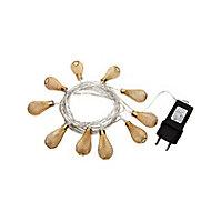 Guirlande LED Sampa Helios Comice doré 2,5m