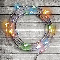Guirlande lumineuse 20 LED multicolore