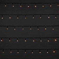 Guirlande lumineuse câble vert 400 LED blanc chaud, électrique
