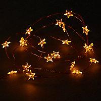 Guirlande lumineuse Etoile fil cuivre 100 LED