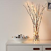 Guirlande lumineuse fil cuivre 100 LED étoile