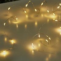 Guirlande lumineuse fil cuivre 20 LED blanc chaud