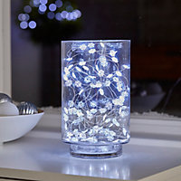 Guirlande lumineuse Flocon fil cuivre 100 LED