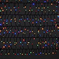 Guirlande lumineuse Frange 2000 LED multicolore, électrique
