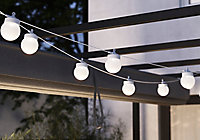 Guirlande lumineuse Magliano 10ampoules LED intégrée IP44 5.25W Blanc chaud Blooma Blanc