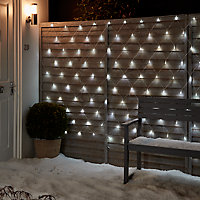 Guirlande lumineuse Rideaux 120 LED blanc froid