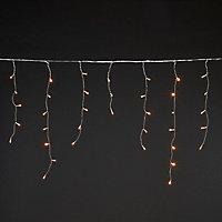 Guirlande lumineuse Rideaux câble transparent 300 LED blanc chaud