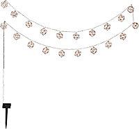 Guirlande solaire LED filaire blanc chaud 2m IP44
