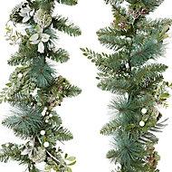 Guirlande vert blanchi