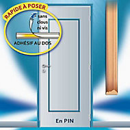 Habillage de porte Skylab adhésif en pin 1 panneau droit