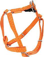 Harnais réglable Mc Leather 20mm orange