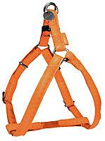 Harnais réglable Mc Leather 25mm orange