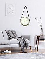 Horloge Ø30,5cm blanc et doré