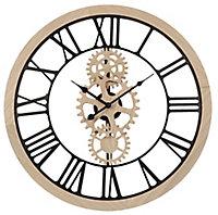 Horloge bois et métal ⌀ 60 cm