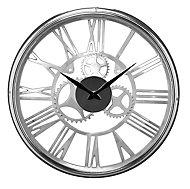 Horloge chrome Ø 45 cm