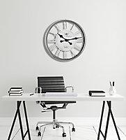 Horloge chrome Ø 56 cm