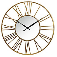 Horloge dorée ⌀ 58 cm