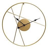 Horloge dorée ⌀ 60 cm